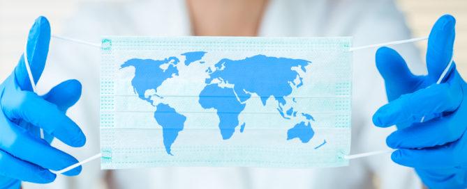 Global pandemic COVID mask